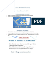 Lesson Plan of Static Electricity