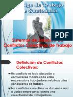 Sistemas de Solución de Conflictos Colectivos de Trabajo