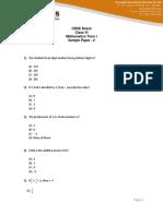 Math Question Paper2 Sa1
