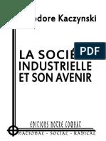 Kaczynski Théodore - La Société Industrielle Et Son Avenir