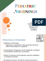 Pediatric Poisoning