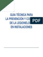 Guia Técnica para la Prevención y Control de la Legionelosis en instalaciones