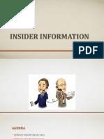 INSIDER Information