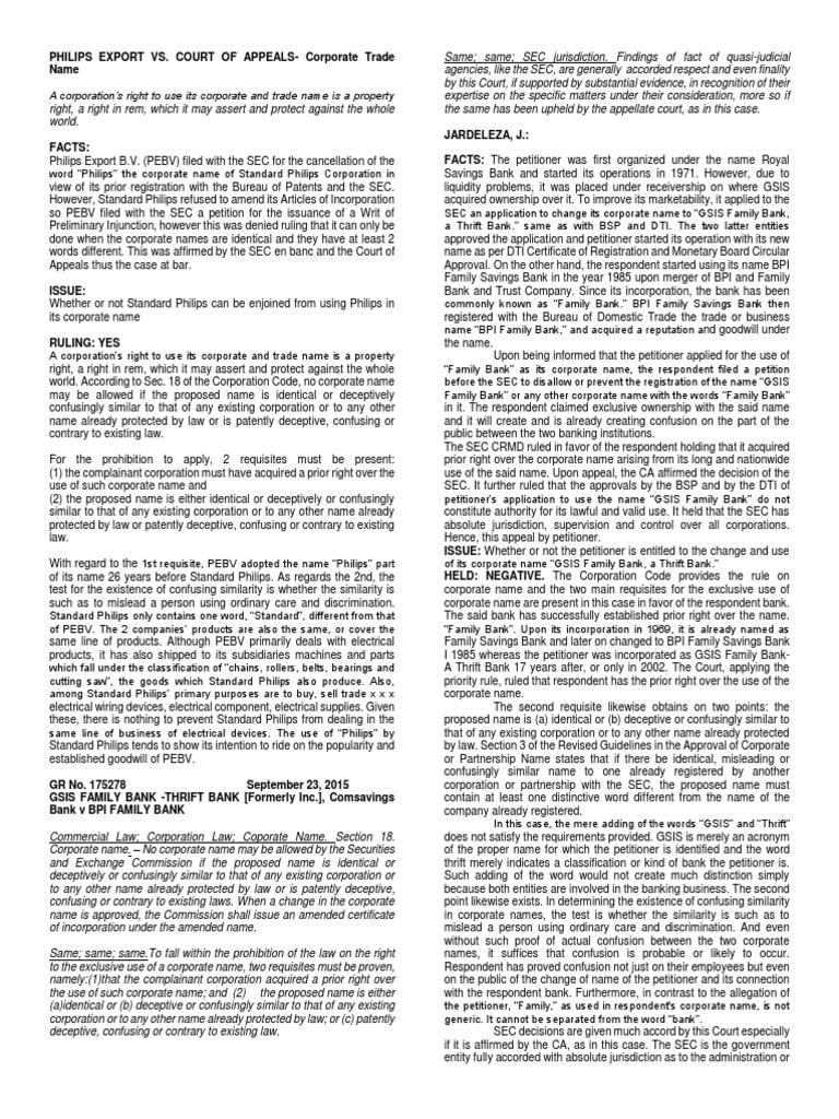 Case Digest Aug 16 Session Foreclosure De Facto