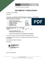 Certificado Medico Psicologico