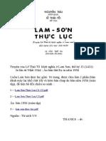 Lam Sơn Thực Lục - Nguyễn Trãi, 1431