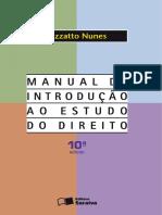 Manual de Introducao Ao Estudo Do Direito Rizzato Nunes 1