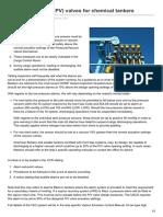 PressureVacuum PV Valves for Chemical Tankers