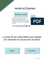 examen sistemas de ecuaciones