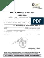 Cred Testigo Junta Municipal 2017