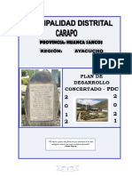 PDC Distrital de Carapo Final 2012