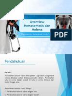 Overview Hematemesis Melena - Muhammad Faizal S.ked