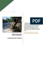 Informe Contaminacion en Fuentes Hidricas