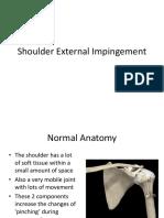 Shoulder External Impingement Handout