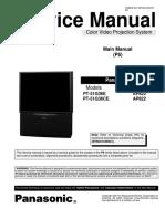 Manual de Servicio Panasonic Model PT51G36E y PT51G36CE