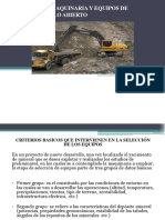 Calculo de Maquinaria y Equipos de Mineria A
