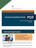 Branch Less Banking Pricing Analysis May 2010