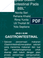 Adaptasi Sistem Gastrointestinal Pada BBL