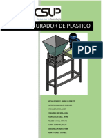 Triturador de Plastico Informe Super Final