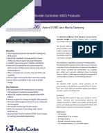 Mediant 1000 Hybrid E-SBC and Media Gateway Datasheet (1)