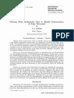 Filtering Probe Inclinometer Data