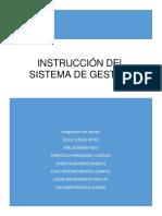 Instrucción Del Sistema de Gestion