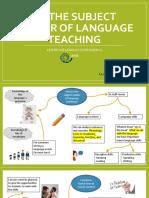 2.3 the Subject Matter of Language Teaching