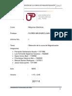 Informe 1 Obtencion de La Curva de Magnetizacion UTP