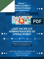 SUBCOMPETENCIA 1 TEMA 1 Operaciones y Productividad Cap 1