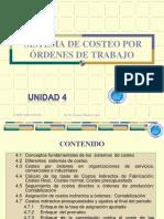Unidad 04 - Sistema de Costeo por Órdenes de Trabajo