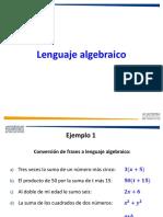 3.- Conversión de Texto a Lenguaje Algebraico