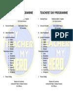 Td Programme