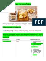 Tabla Para Contar Carbohidratos