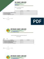 Lembar Audit Monitoring Pelayanan Gizi