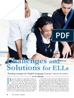Challenges and Solutions for ELLs Teaching Strategies for English Language Learners' Success in Science