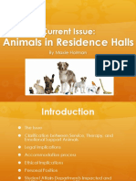 current issue- animals in residence halls