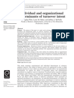 Determinant of Turnover Intents