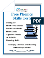 Free Phonics Skills Test by Phonics Advantage