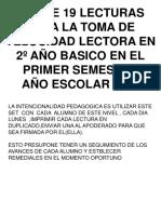 73697341 19 Ejercicios de Velocidad Lectora 2º Ano Basico Primer Semestre 2011
