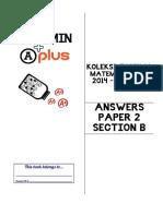 Koleksi Topikal Kertas 2(Bah. B) Matematik SPM 2014 - Jun 2017