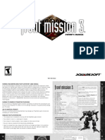 Front Mission 3 - Manual - PSX