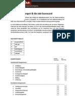 Jobbeschreibung Job Scorecard
