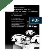 Programa de Las Jornadas Foucault