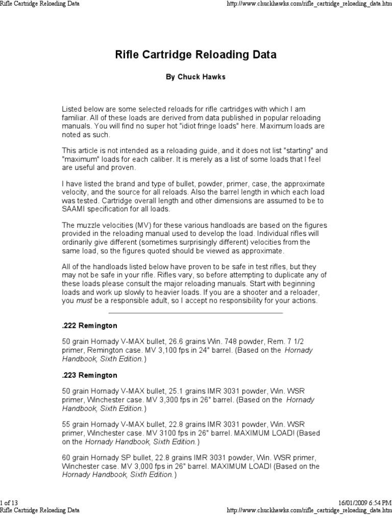 243 95 Grain Nosler Ballistic Tip Load Data