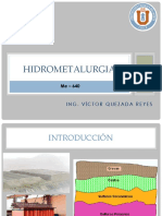 1. Introduccion a La Hidrometalurgia