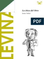 [Descubrir La Filosofia 45] Sole, Joan - Levinas. La Etica Del Otro [36127] (r1.0)