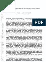 El Sistema Del Mundo de Acuerdo Con Santo Tomás - Rubén Calderón Bouchet