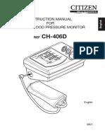 Citizen Blood Pressure Monitor CH-406D