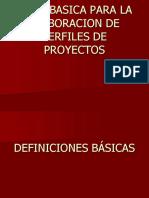 Guía de Perfil de Proyectos Productivos