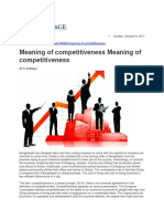 Meaning of Competitiveness Part one